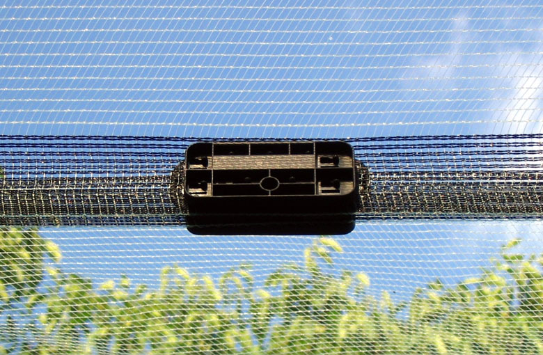 Attachment accessories for anti hail nets